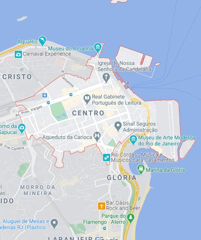 Mapa do Centro RJ