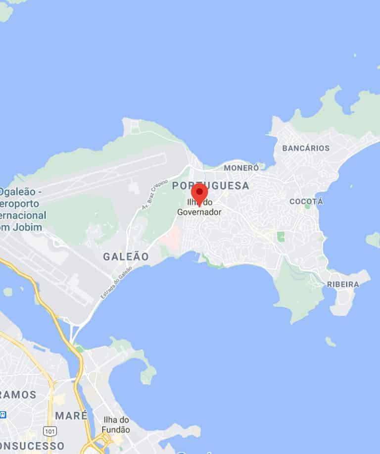Mapa da Ilha do Governador RJ