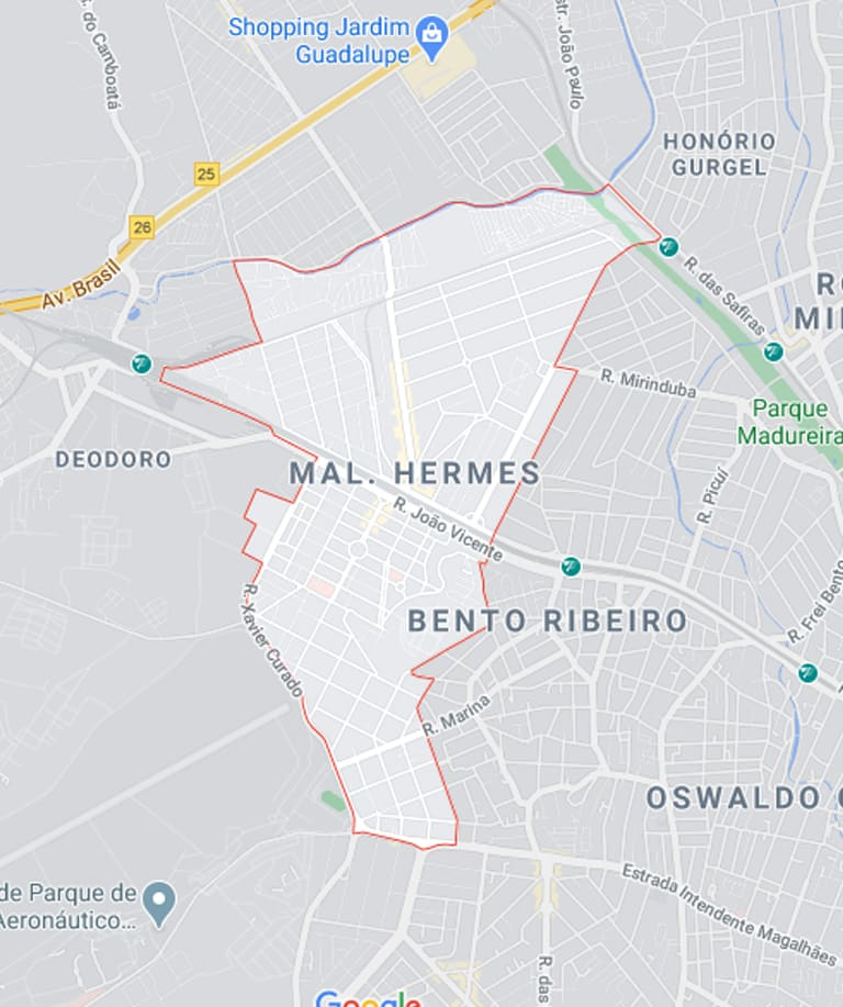 Mapa de Marechal Hermes RJ