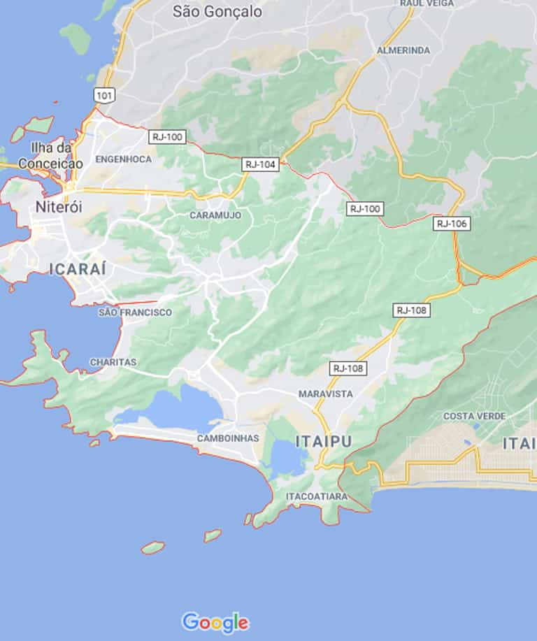 Mapa de Niterói RJ