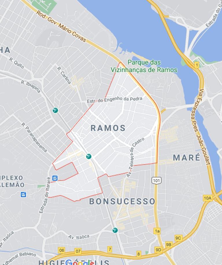 Mapa de Ramos RJ