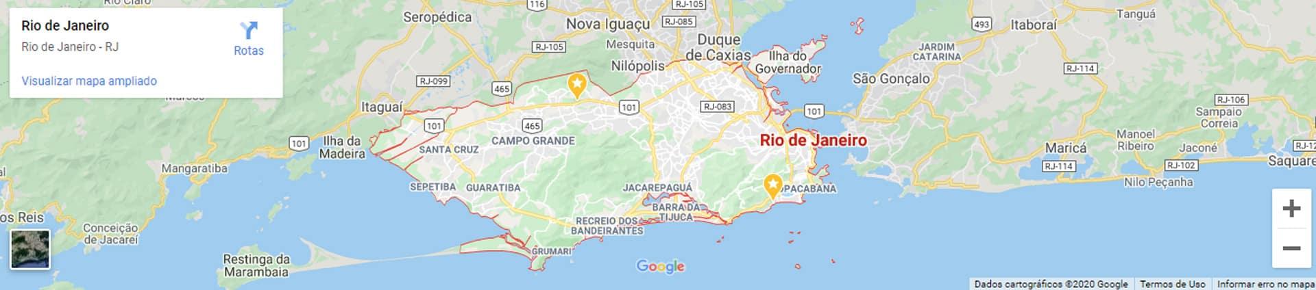Mapa do Rio de Janeiro RJ