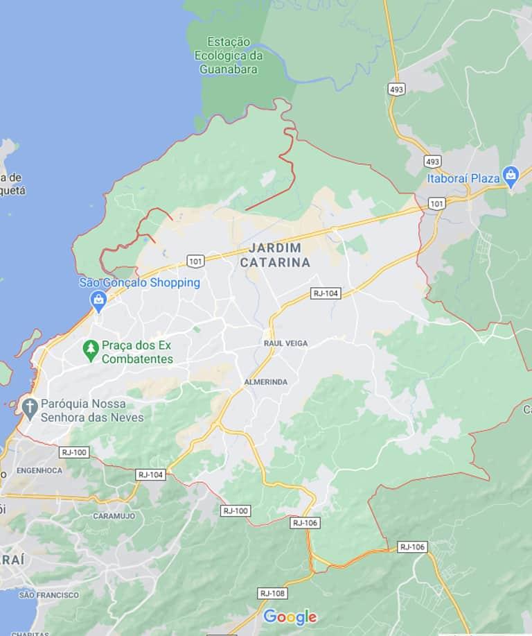 Mapa de São Gonçalo RJ