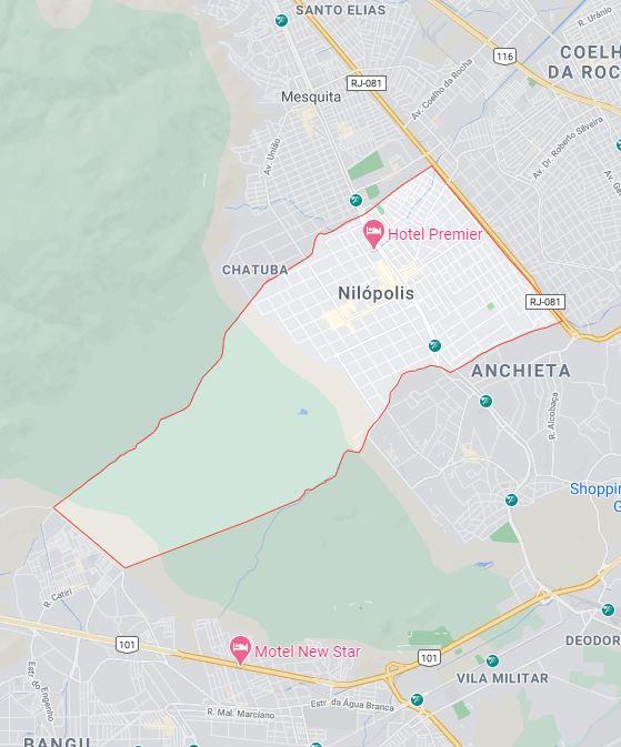 Mapa de Nilópolis RJ